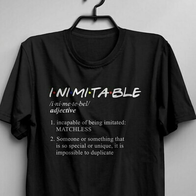 """Inimitable"" Dictionary Women's T- Shirt"