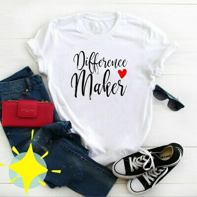 Difference Maker T-Shirt (White)