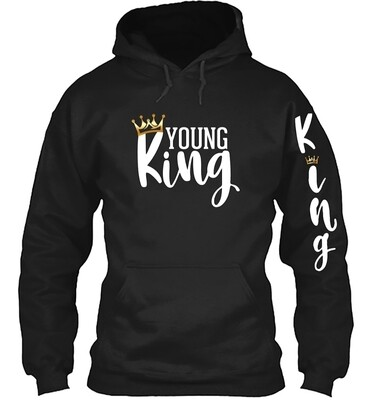 YOUNG King Adult Hoodie