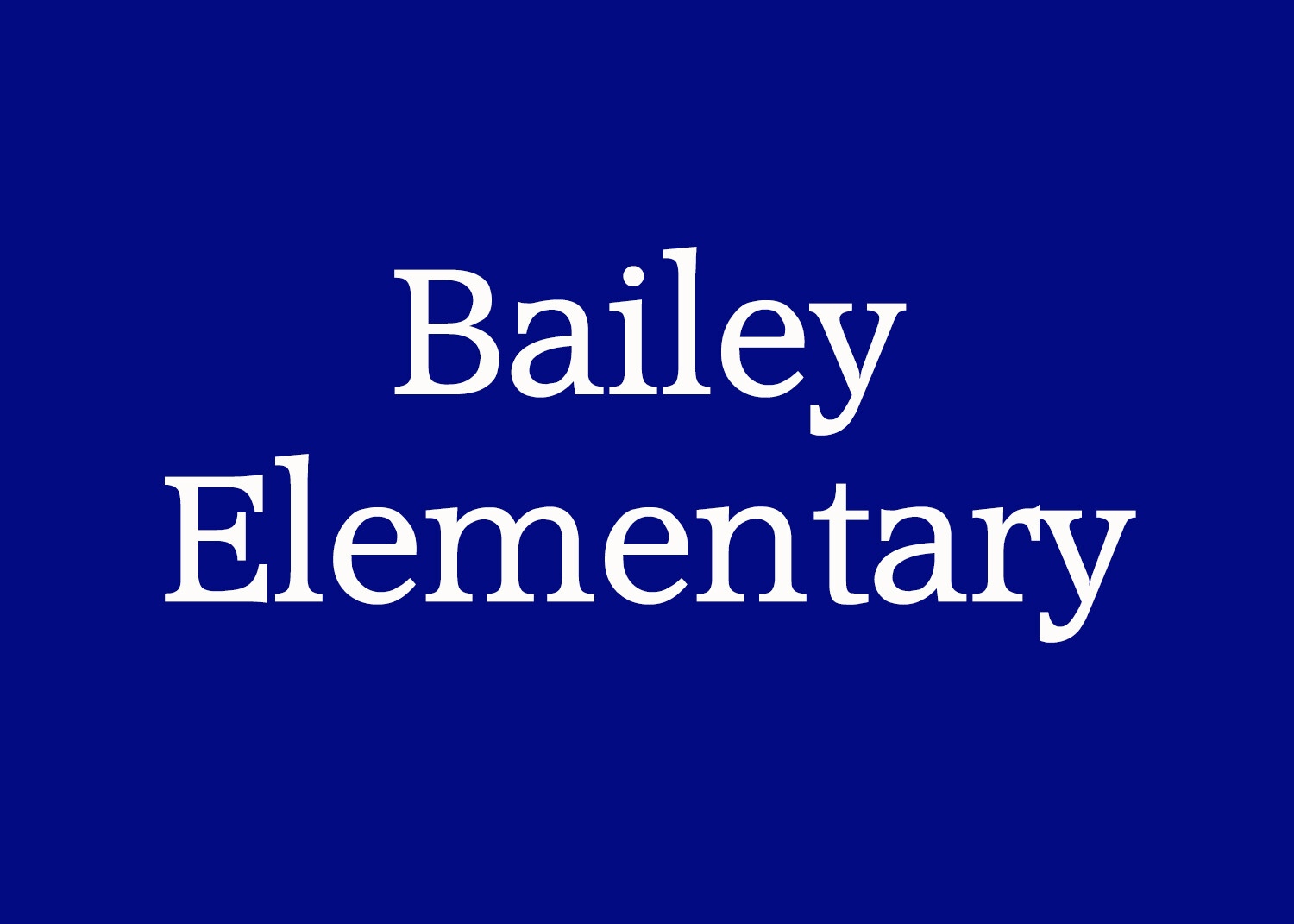 Bailey Elementary Yearbook