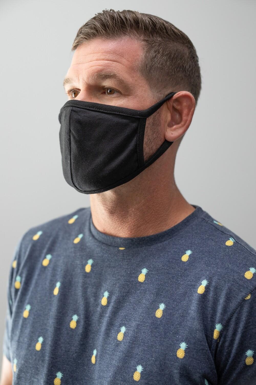 Welcron-sewn Mask (Black)