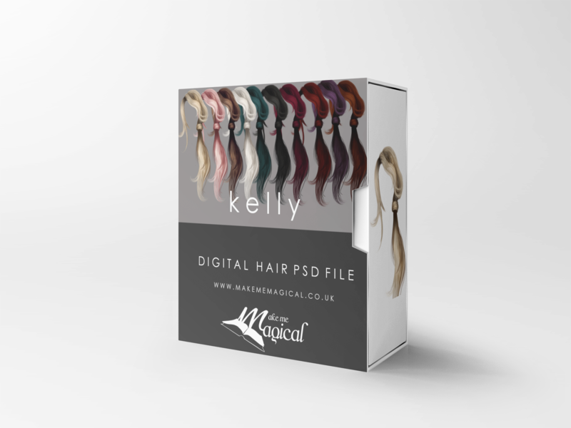 Kelly digital painted photoshop instant hair overlay psd multiple colours by makememagical