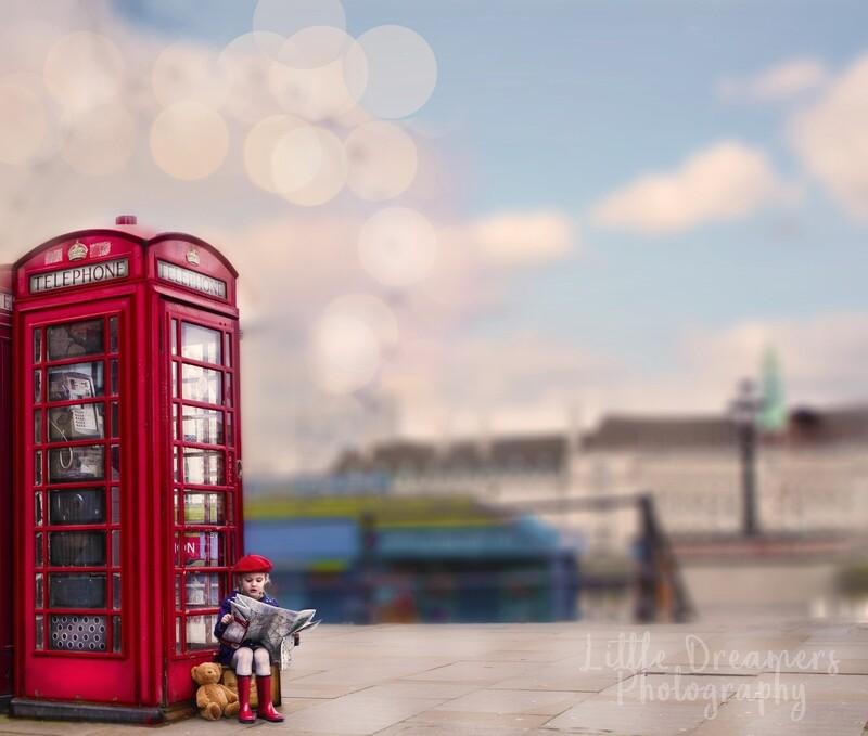 Painterly London calling adventures digital backdrop pack x 5
