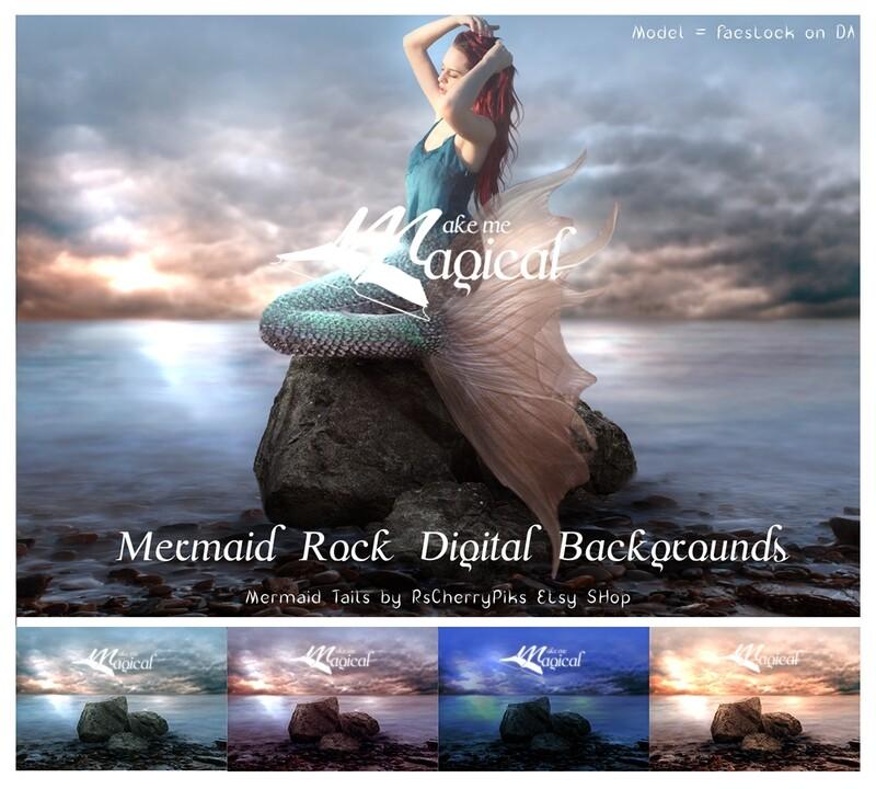 Mermaid digital Backdrop | Mermaid digital Background | Ocean Backdrop | seaside background | photo background | Digital Backdrop