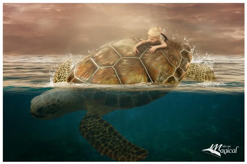 Turtle Backdrop | Turtle Background | Sea Turtle | Digital Backdrop | Digital Background | Instant Download | Ocean Background |