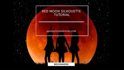Red Moon Silhouette tutorial by Eric Miele from AJK Photography