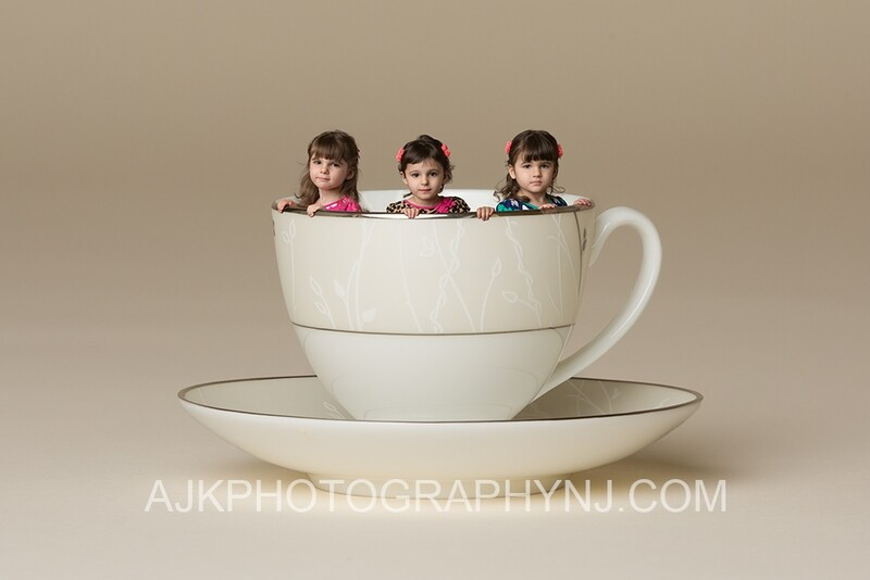 Teacup composite digital backdrop- miniature person digital background by Eric Miele from AJK Photography