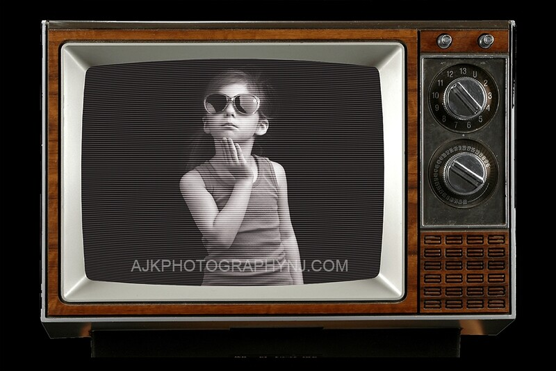 Television Set Overlay, LAYERED PSD, Vintage TV set, Digital Background by Eric Miele from AJK Photography