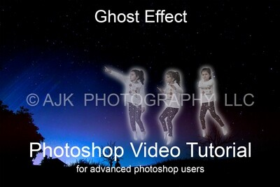 Ghost Effect Photoshop Tutorial for advanced users, photoshop tutorial by Eric Miele from AJK Photography
