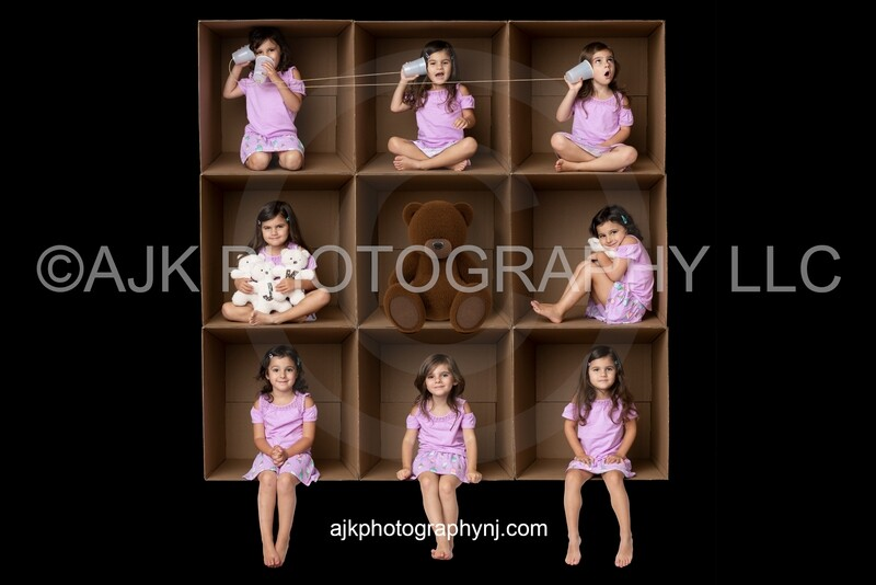 9 cardboard boxes PNG Digital Overlay, composite, by Eric Miele from AJK Photography