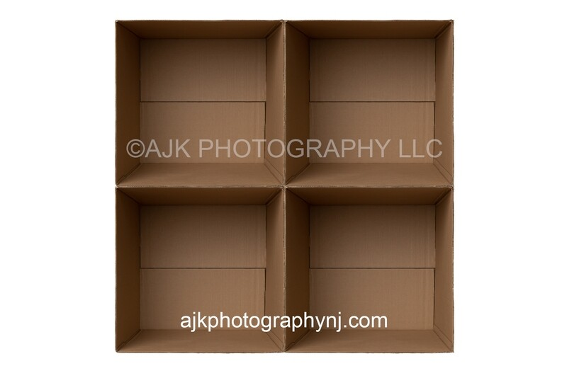 4 cardboard boxes PNG Digital Overlay, composite, by Eric Miele from AJK Photography