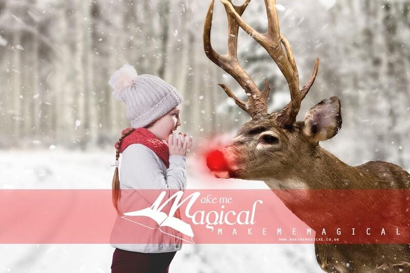 Red nose reindeer digital backdrop, rudolph digital backdrop, reindeer digital background, makememagical, christmas digital backdrop