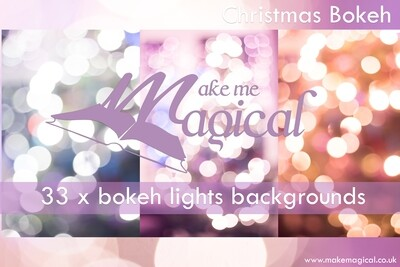 Christmas Bokeh Lights pack of 33 digital backdrops, bokeh texture, bokeh overlays, bokeh lights, pastel bokeh, bokeh orbs, bokeh photos