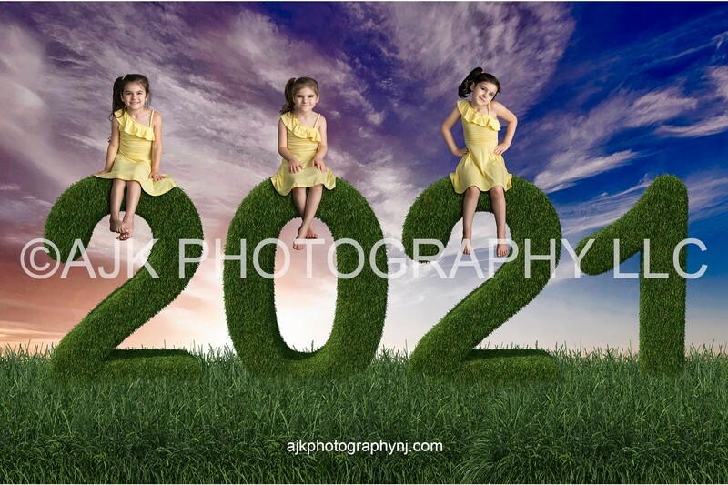 Graduation digital backdrop, 2021 grass numbers digital background