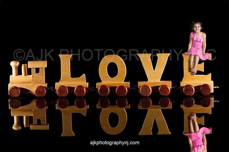Valentines Day digital background, wooden train that spells love, love train, digital backdrop