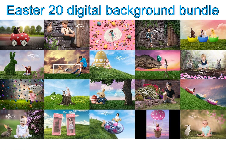Easter digital backdrop bundle pack