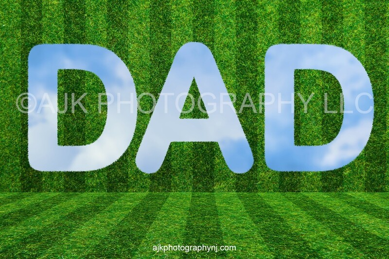 Father's Day digital background, DAD shaped hole in grass wall, digital backdrop