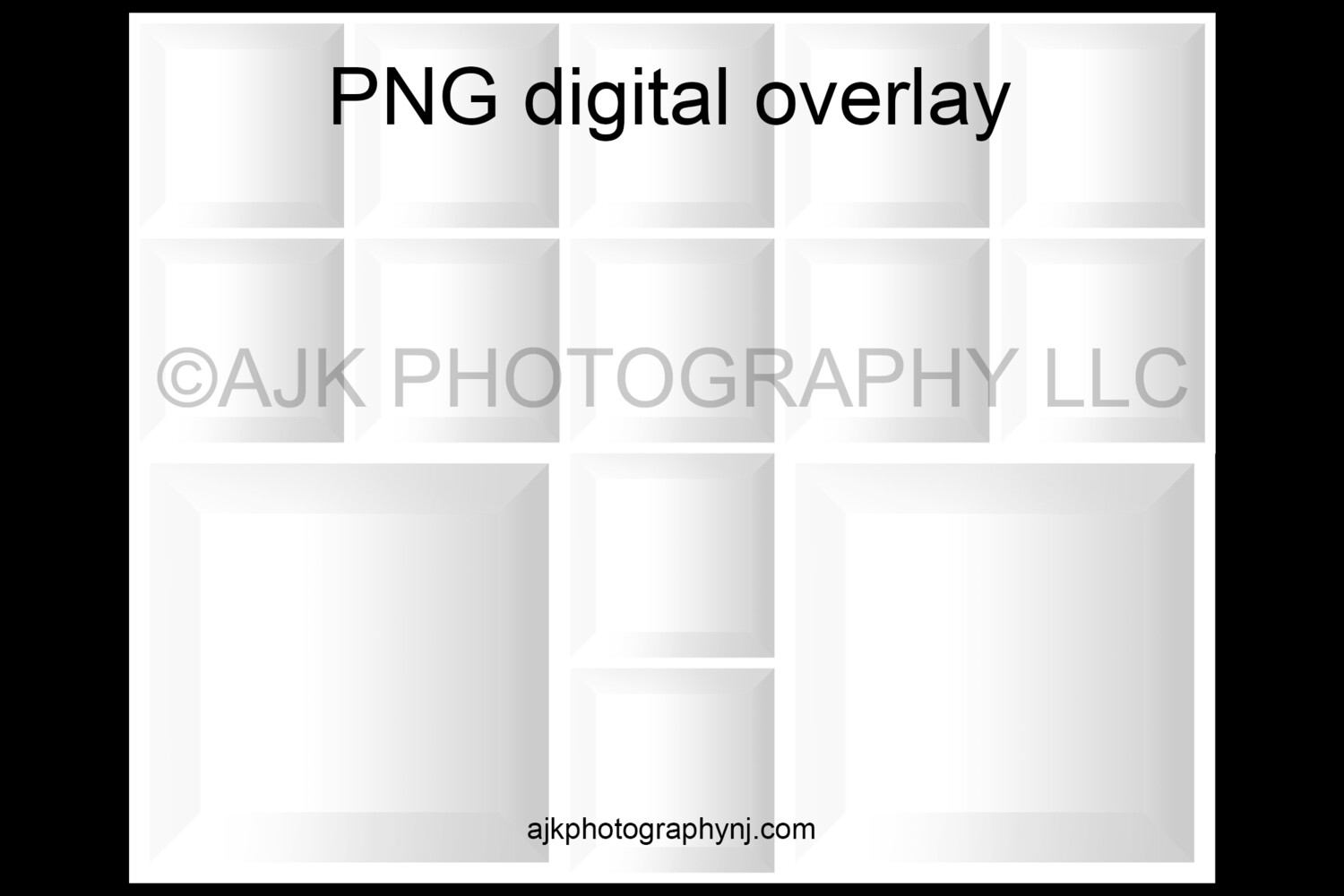 13 empty white boxes template, inside the box, 12 students and 1 teacher, class photo template, PNG Digital Overlay