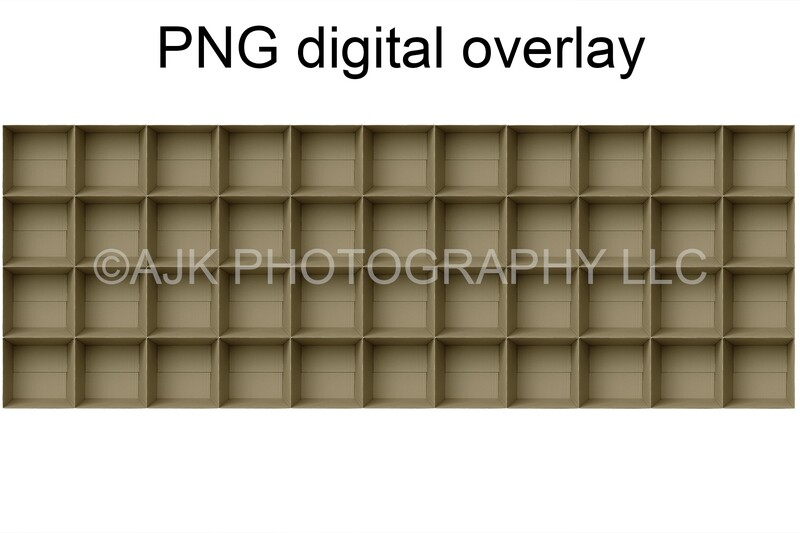 44 empty cardboard boxes template, class photo template, PNG Digital Overlay