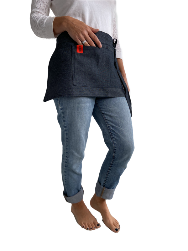 Short Waist Apron - Ties around the waist