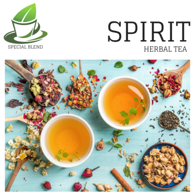 SPIRIT HERBAL BLEND Lady Slipper Chamomile Flowers and Hibiscus.