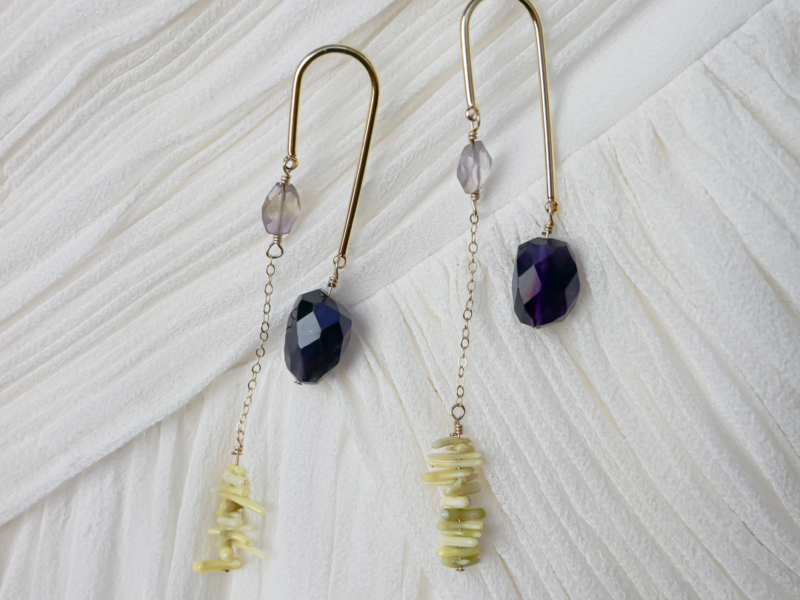 Blue amethyst earrings