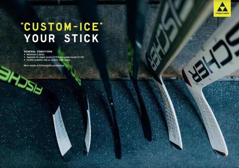 Skreddersydd hockeykølle med integrert navn, nummer eller logo; minstebestilling 3x