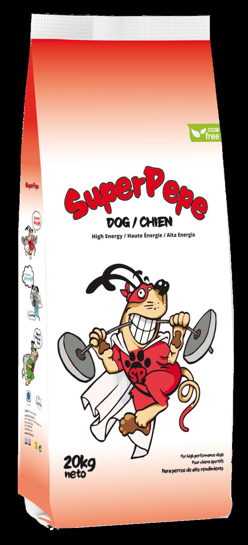 SuperPepe High Energy sausas judrių šunų maistas 20 kg