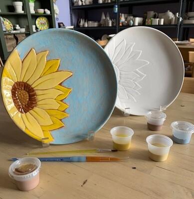 Beautiful Sunflower Plate