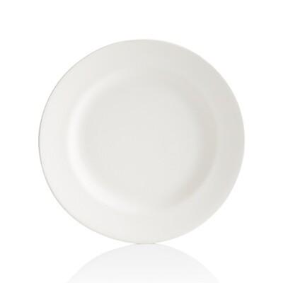 Round Rimmed Dinner Plate