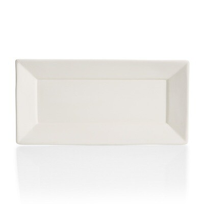 Angled Rim Rectangle Platter
