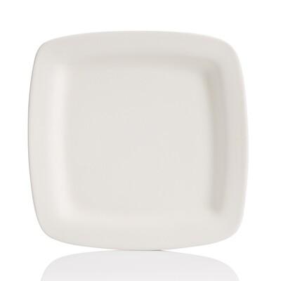 Square Rimmed Dinner Plate