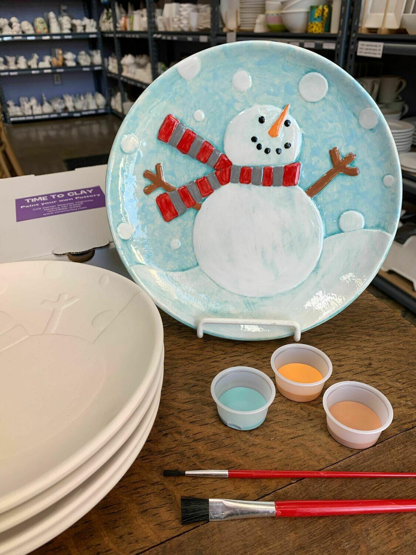 Snowman Plate Project Kit