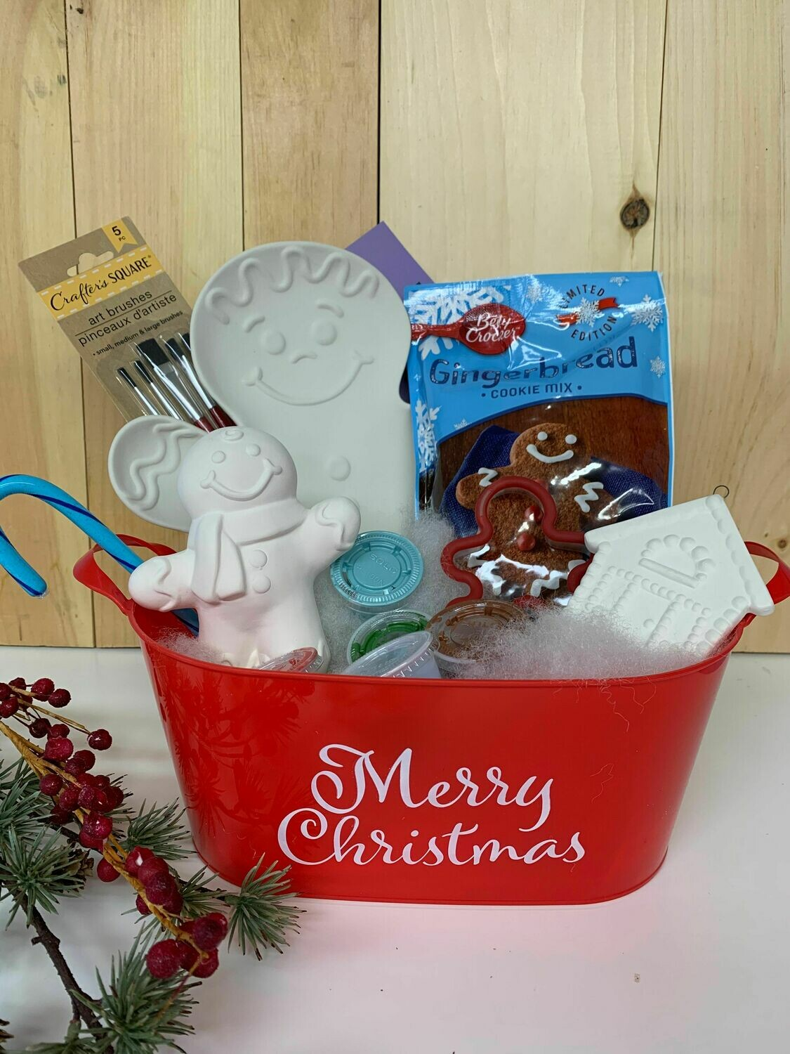 Gingerbread Cookie Basket