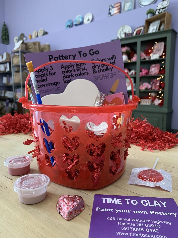 Valentine Heart Box Basket