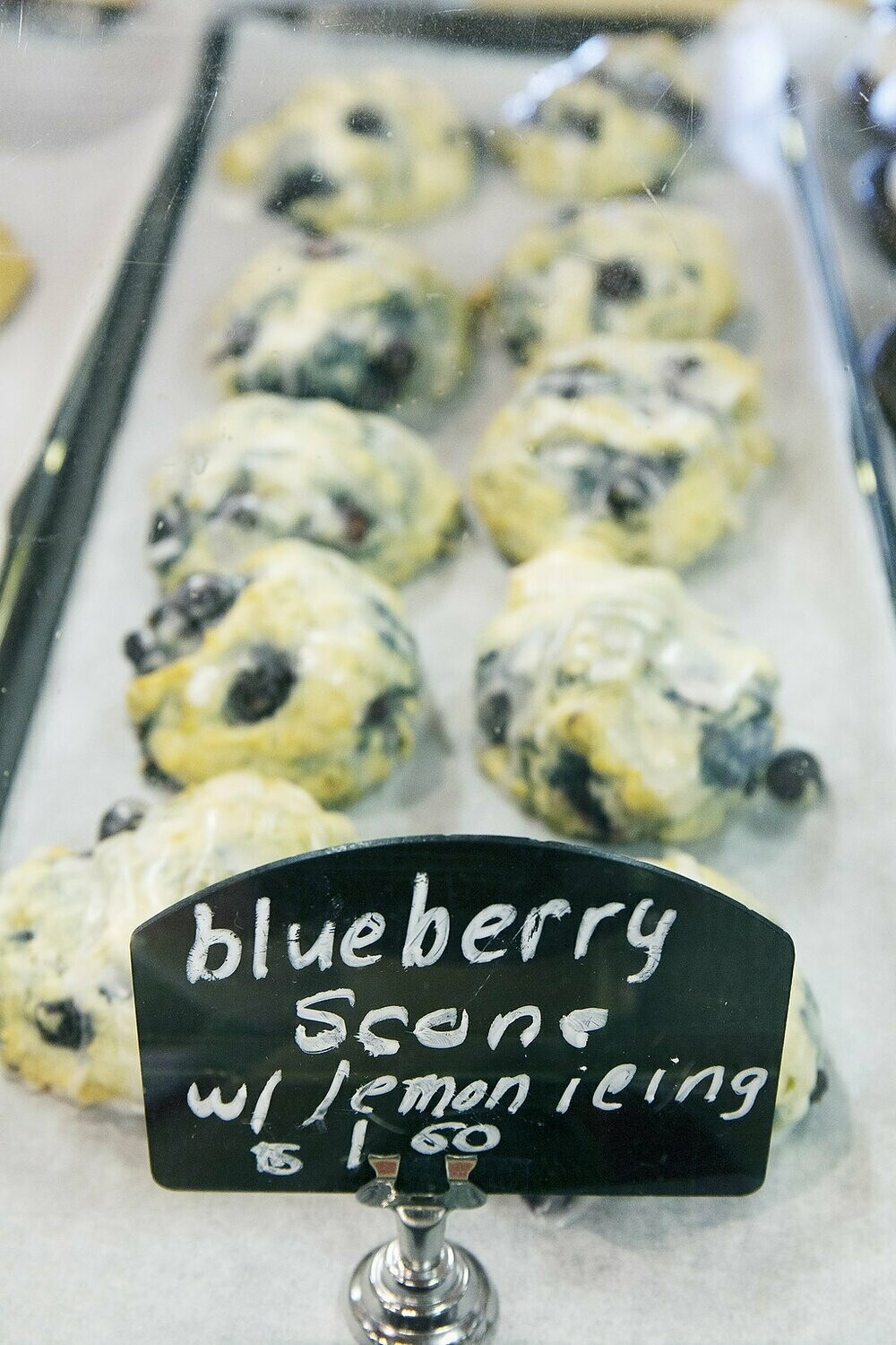 FARM MADE BLUEBERRY SCONES with LEMON ICING- bag of 4 blueberry scones
