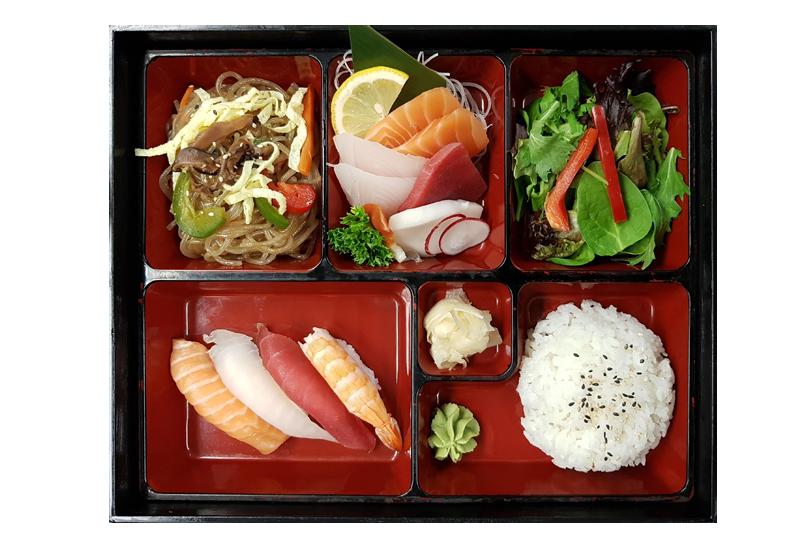 D. SUSHI & SASHIMI BOX LUNCH