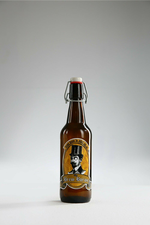 Flip-top bottle 50 cl, brown, with flip-top