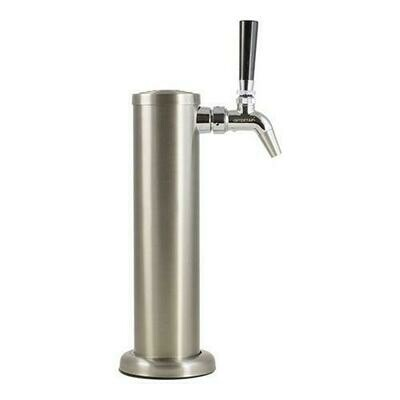Single Tap Stainless Steel Draft Tower