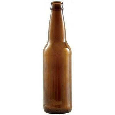 Beer bottle Amber Long Neck 33 cl, 26 mm