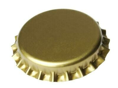Crown caps 26 mm gold - Count 100