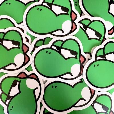 Annoyed Yoshi Sticker