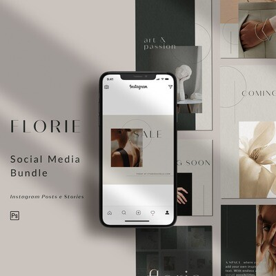 FLORIE - Bundle Templates Posts + Stories IG