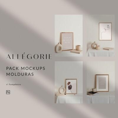 Allégorie - Mockups Molduras