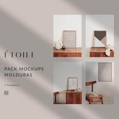 Étoile - Mockups Molduras