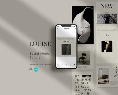 LOUISE - Bundle Templates Posts + Stories IG