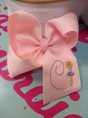 Custom Embroidered Bow