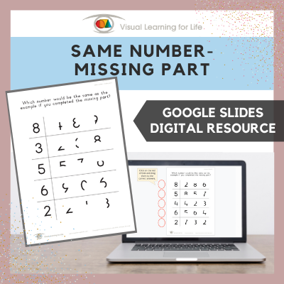 Same Number – Missing Part (Google Slides)