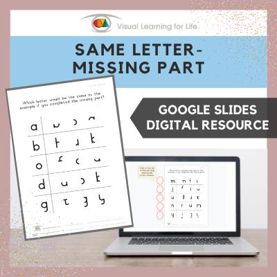Same Letter – Missing Part (Google Slides)
