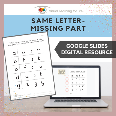 Same Letter – Missing Part (Google Slides)